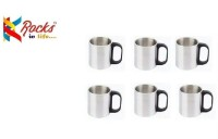 Rocks HOT Stainless Steel Mug (200 Ml, Pack Of 6)