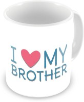 Home India I Love My Brother Printed Design White Coffee  539 Ceramic Mug (300 Ml)