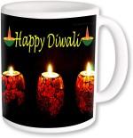 PhotogiftsIndia Plates & Tableware PhotogiftsIndia Candle With Happy Diwali Coffee Ceramic Mug