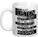 Prithish Plates & Tableware Prithish Listen To Your Heart Ceramic Mug