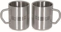 Garuda Regular Coffee Stainless Steel Mug (200 Ml, Pack Of 2)