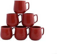 Aarzool Yellow Matki Cups Ceramic Mug (200 Ml, Pack Of 6)