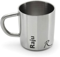 Hot Muggs Me Classic  - Raju Stainless Steel Mug (200 Ml)