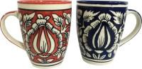 Toygully Kalamkari Ceramic Mug (100 G, Pack Of 2)