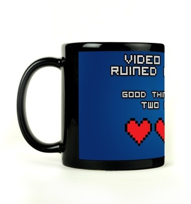 Bluegape Video Game Love Mug Black, Pack of 1