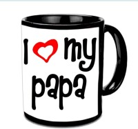 Jiya Creation1 I Love You Papa Nice Design Multicolor Ceramic Mug (3.5 Ml)