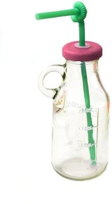 Satyam Kraft Bottle With Straw And Air Tight Cap Glass Mug (500 Ml) - MUGEGAG263CJPUCX
