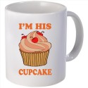 Snoogg I am his cupcake Mug - White, Pack of 1