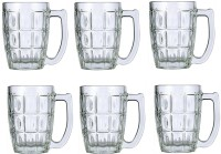 Lucky Thailand Beer  Glass Mug (400 Ml, Pack Of 6)