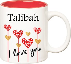 HuppmeGift I Love You Talibah Inner Red  (350 ml) Ceramic Mug