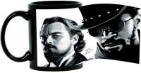 Harshita Enterprises Black And White Man Ceramic Mug (300 Ml)