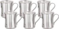 Aagam Convex Tea  Stainless Steel Mug (80 Ml, Pack Of 6)