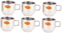 Classic Steels DOUBLE WALL MUG - TIP TOP Stainless Steel Mug (100 Ml, Pack Of 6)