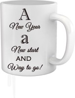 Tiedribbons A New Start And Way To Go Coffee Mug (White, Pack Of 1)