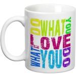 Prithish Plates & Tableware Prithish Do What You Love Love What You Do Ceramic Mug