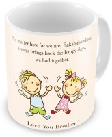 Little India Dancing Boy N Girl Printed Coffee  For Brother 524 Ceramic Mug (300 Ml)