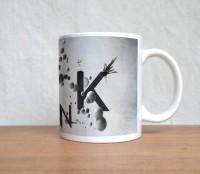 StyBuzz Digital Art Think White Ceramic Mug (300 Ml)