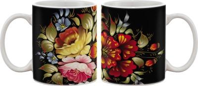 Artifa Plates & Tableware Artifa Flowers Porcelain, Ceramic Mug