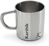 Hot Muggs Me Classic  - Karthik Stainless Steel Mug (200 Ml)