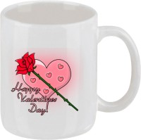 Ellicon 182 Happy Valentine Day Mug (White, Pack Of 1)