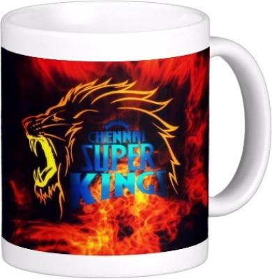 Exoctic Silver Chennai Super King IPL Series XXX 042 Ceramic Mug (300 Ml)