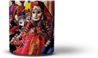 The Nodding Head Kathputli (Puppet) Dance Coffee Ceramic Mug (300 Ml)