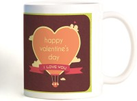 ShopMantra Where There Is Love Parachute Heart Mug (White, Pack Of 1)