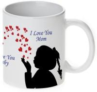 Mugwala Love You Mom For Mother & Daughter Ceramic Mug (344 Ml)