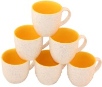 Aarzool Tradition Look Duo Tone Ceramic Mug (200 Ml, Pack Of 6)