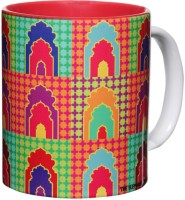 The Elephant Company Mehrab New Ceramic Mug (300 Ml)