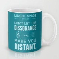 Astrode The Dissonance Music Snob Tip Ceramic Mug (325 Ml)