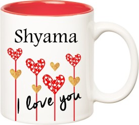 HuppmeGift I Love You Shyama Inner Red  (350 ml) Ceramic Mug