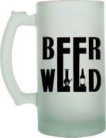 Keep Calm Desi Beer Weed Frosted Beer  Glass Mug (500 Ml)