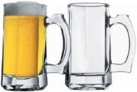 Pasabahce Handled Beer  Glass Mug (300 Ml, Pack Of 2)
