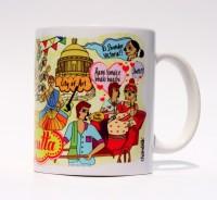 Chumbak Calcutta Mug Multi Colour, Pack of 1