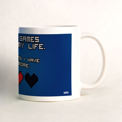 Bluegape Video Game Love Mug Blue, Pack of 1