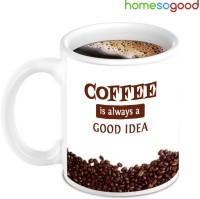 Home So Good Beautiful Coffee Nuts With Good Idea Ceramic Mug (280 Ml)