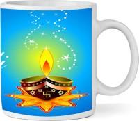 Shopkeeda Diyas Kitchen Dining Ceramic Diwali  By Shopkeeda Ceramic Mug (350 Ml)