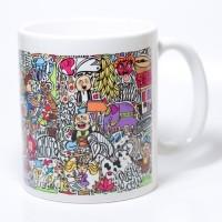 Chumbak Pattern Mug Multi Colour, Pack of 1
