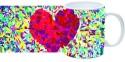 Printland Red Hearted Mug - Multicolor, Pack Of 1