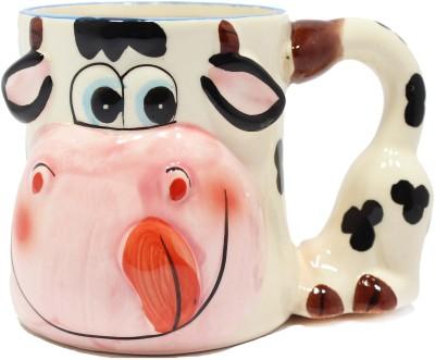 Qian Qian Cow Animal  Porcelain Mug