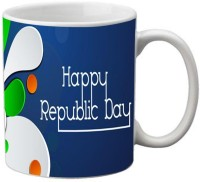 MeSleep Happy Republic Day Digital Printed Mug (Multicolor, Pack Of 1)