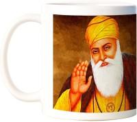 ShopMantra Guru Nanak Devji Quotes White  Ceramic Mug (300 Ml)