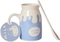 Grooto Cow Zoo Milk  Ceramic Mug (440 Ml, Pack Of 3)