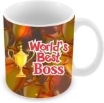 Everyday Gifts Plates & Tableware Everyday Gifts World's Best Boss Ceramic Mug