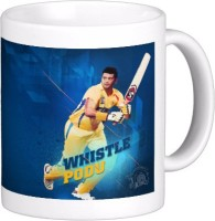 Exoctic Silver Chennai Super King IPL Series XXX 007 Ceramic Mug (300 Ml)