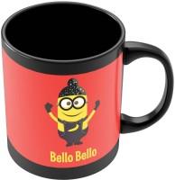 PosterGuy Bello Bello Despicable Me Inspired Minion Singh(Red) Funny Illustration Ceramic Mug (280 Ml)