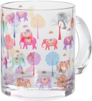 The Elephant Company Elephant Carnival Glass Mug (300 Ml)