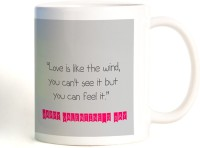 ShopMantra Love Is Like Wind Valentines Day Mug (White, Pack Of 1)