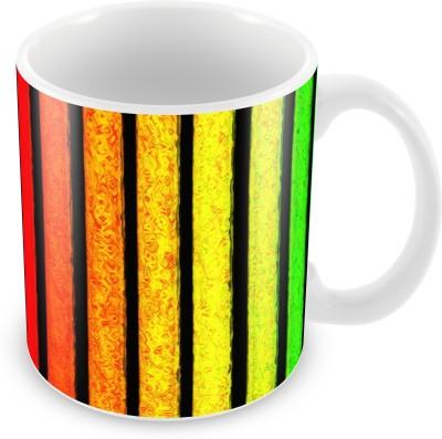 Prinzox Bright Color Bars Ceramic Mug